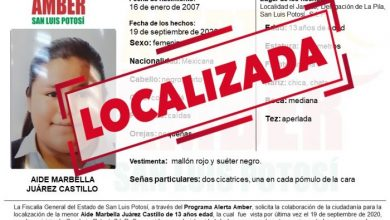 Photo of LOCALIZA FGE A MENOR QUE TENÍA UNA ALERTA AMBER EN SLP